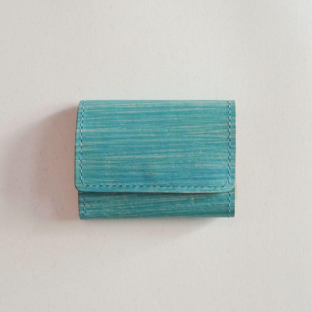しけ引き染め 三つ折りミニ財布 No.22