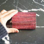 しけ引き染め 三つ折りミニ財布 No.25